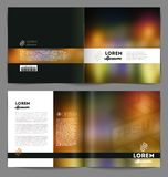 Template booklet abstract design Royalty Free Stock Images