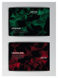 Template of booklet with abstract elements Stock Photos