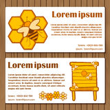 Template for booklet, card or flyer on beekeeping Royalty Free Stock Photos