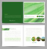 Template booklet design. Cover and inside pages Stock Photo