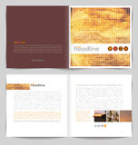 Template booklet design. Cover and inside pages Stock Photos