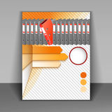 Template booklet for office life with elements of infographics Stock Photo