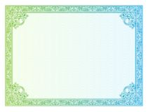 Template border diplomas, certificate Royalty Free Stock Photo