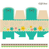 Template box - gift or candy. Gift box - candy, toys, various royalty free illustration