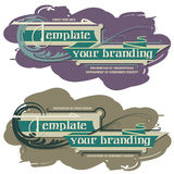 Template branding Royalty Free Stock Photos