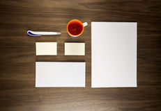 Template for branding identity for graphic designers presentations Stock Image