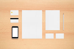 Template for branding identity Royalty Free Stock Image