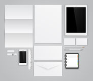 Template for branding. Identity. Vector graphic design presentations and portfolios Royalty Free Stock Photo
