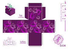 Template For Bright Gift Box Stock Photo