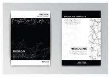 Template of brochure with abstract elements Royalty Free Stock Images