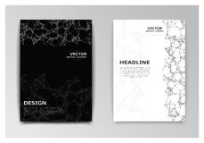 Template of brochure with abstract elements Stock Photo