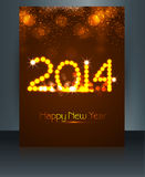 Template brochure beautiful new year 2014 Royalty Free Stock Photos
