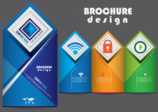 Template brochure cover  design Royalty Free Stock Photos