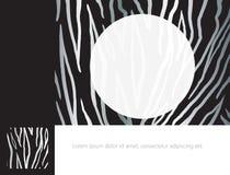ZEBRA PRINT Border. ZEBRA PRINT FRAME. Template for brochure cover or web page design. Black stripes on white color background. Digital illustration. Vector file vector illustration