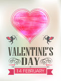 Template or brochure design for Happy Valentines Day. Stock Photography