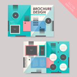 Template of brochure design with spread pages Royalty Free Stock Photos