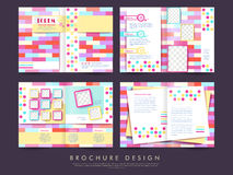 Template of brochure design with spread pages Royalty Free Stock Images