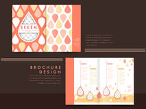 Template of brochure design with spread pages Royalty Free Stock Image