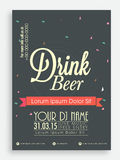 Template, brochure or flyer for beer. Stock Photos