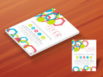 Template, brochure or flyer for business. Royalty Free Stock Photography