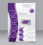 Template for brochure or flyer. Editable A4 poster Stock Photo