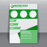 Template for brochure or flyer. Royalty Free Stock Image