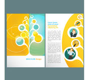 Template. Brochure layout Template design with business woman Royalty Free Stock Photos
