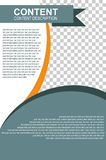 Template Brochure with transparent effect to photo placement. Vector template Brochure with transparent effect to photo placement Stock Photos