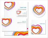 Template for business artworks. Vector Royalty Free Stock Photos