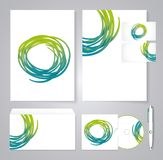 Template for Business artworks. Bio style. Royalty Free Stock Photo