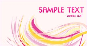 Template for business card with abstract design. Template for business card with pink wave abstract design Stock Photo