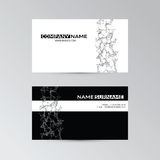 Template of business card with abstract elements Royalty Free Stock Photo