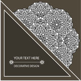 Template business card and invitation with circular patterns of mandalas. Corporate style. For your documents. Vector illustration Stock Photos