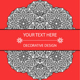 Template business card and invitation with circular patterns of mandalas. Corporate style. For your documents. Vector illustration Royalty Free Stock Image