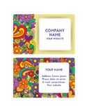 Template business card for organization of festivals company. Layout for print, vector illustration. Bright color. The concept of holiday design. Abstract Stock Photos