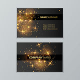 Template of business cards Stock Images