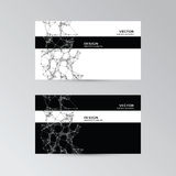 Template of business cards with abstract elements Royalty Free Stock Photos