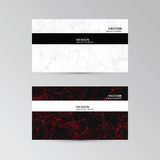 Template of business cards with abstract elements Stock Photography