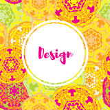 Template business cards with oriental Islamic mandala  pattern. Stock Photography