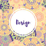 Template business cards with oriental Islamic mandala  pattern. Stock Image