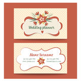 Template business cards for wedding planner or Royalty Free Stock Photo