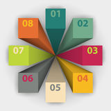 Template business cycle, can be used for data presentations, infographics Royalty Free Stock Image