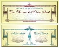 Template for business, envelope, invitations Royalty Free Stock Photography