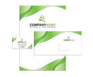 Template business identity with logo Royalty Free Stock Photo
