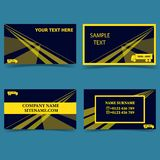 Template-for-business-trucking-business-business-card-modern-design royalty free illustration