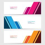 Template for bussines website or advertising Vector abstract design banner web template 5. Template for your bussines website or advertising Vector abstract Stock Photos