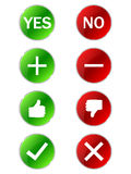 Template buttons. In green and red circle Royalty Free Stock Photography