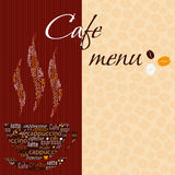 Template of a cafe menu Royalty Free Stock Photos