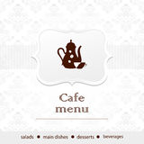 Template of a cafe menu Royalty Free Stock Photography