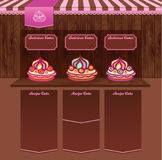 Template for Cake Recipes Web site Royalty Free Stock Images